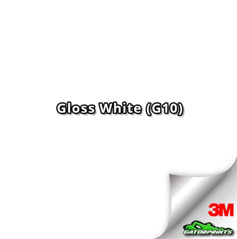 white g10 60 quot 3m 1080 gloss white g10 vinyl wrap gatorprints