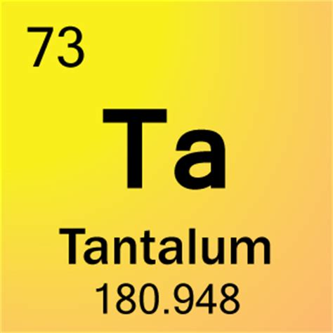 73 tantalum ta periodic table meaning
