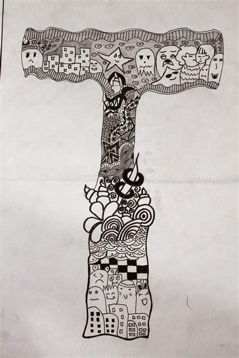 gambar doodle art huruf populer  terlengkap top meme