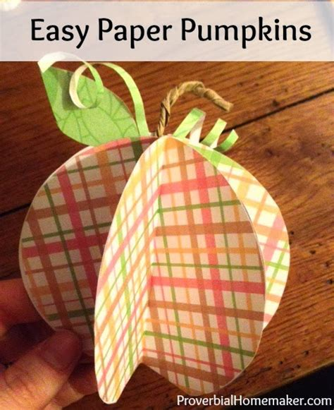 Simple Paper Crafts For Adults - easy paper pumpkin craft