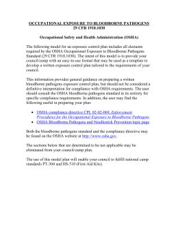 Osha Exposure Plan Word Document