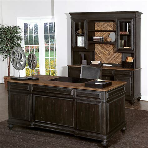Rustic Home Office Furniture Workspace And Home Office Smart Furniture Rustic Desks And Hutches Other Metro By