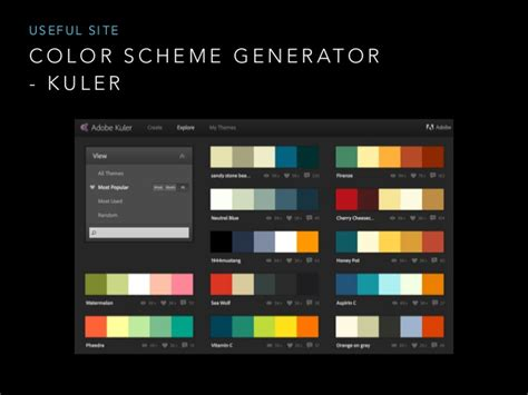 scheme generator design for developer color
