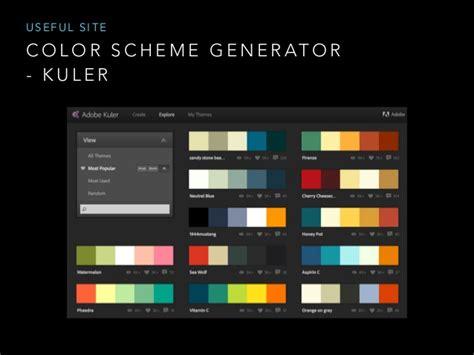 color scheme generator design for developer color