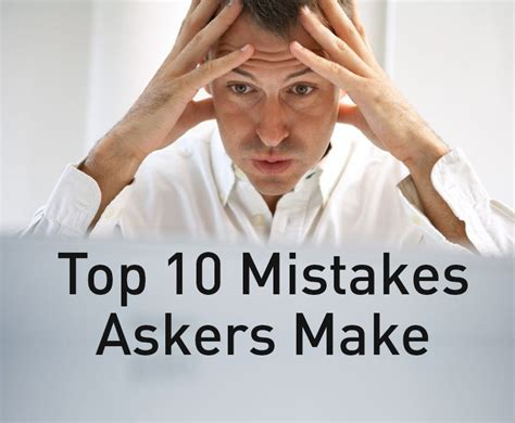 Financing 10 Mistakes That Most Make by The Top 10 Mistakes Fundraisers Make Asking Asking Matters