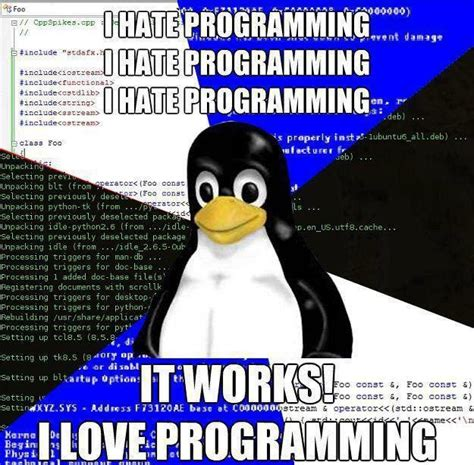 Funny Programming Memes - friday joke i hate programming stephen haunts coding