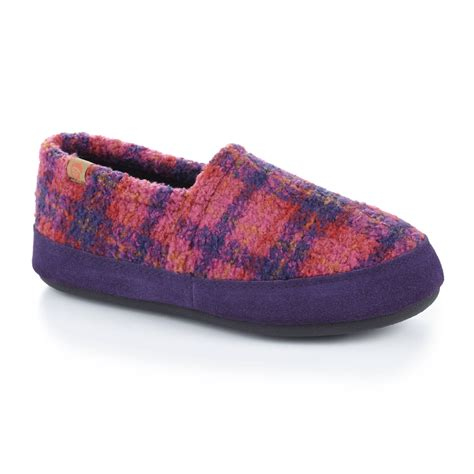acorn womens slippers acorn moccasin slippers for