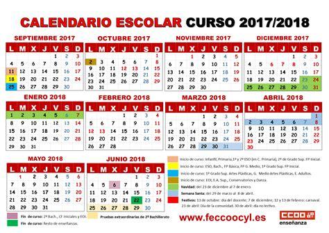 calendario del ceonato de segunda categoria 2016 feccoocyl calendario escolar curso 2017 18