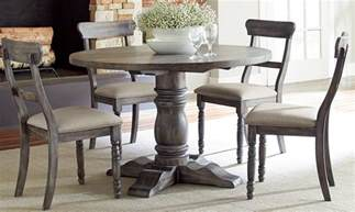 modern rustic brushed gray finish dining table sales my
