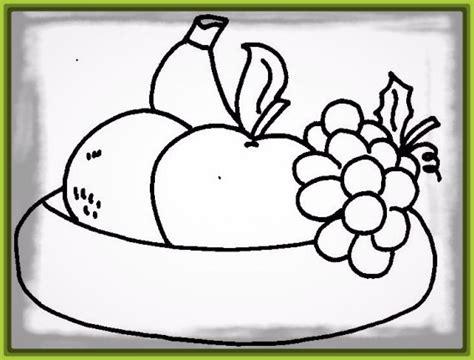 imagenes para pintar grandes dibujos para colorear de frutas con caritas archivos
