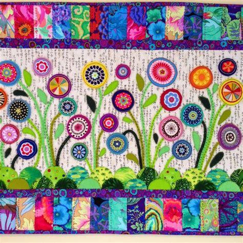 felt applique flower garden wool felt applique by wendy s quilts and