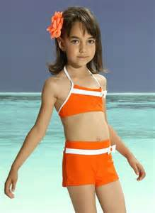 Orange girl swimwear 2189 stylish fashion