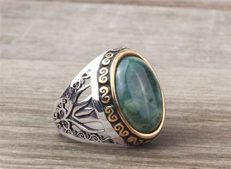 925k sterling silver gemstone ring with agate
