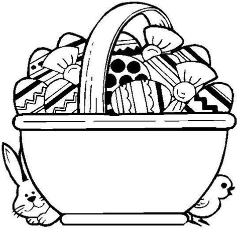 Easter Basket Coloring Part 2 Easter Basket Printable Coloring Pages