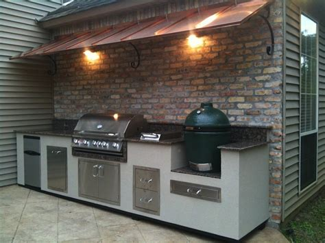 Backyard Bbq Mount Peerless Outdoor Kitchens Big Green Egg With Wall Mounted