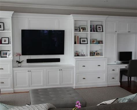 white wall unit ideas pictures remodel  decor