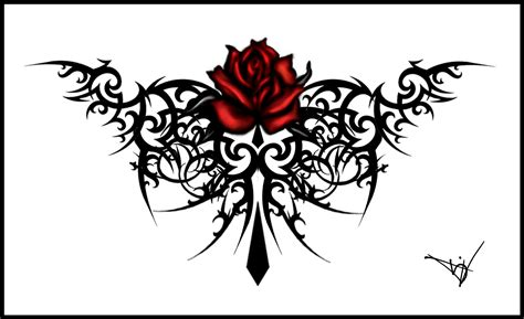 black rose tribal tattoo tattoos designs ideas and meaning tattoos for you