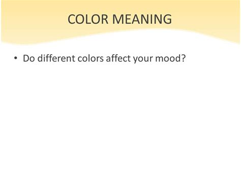 what colors affect your mood basic color theory of different cultures ppt