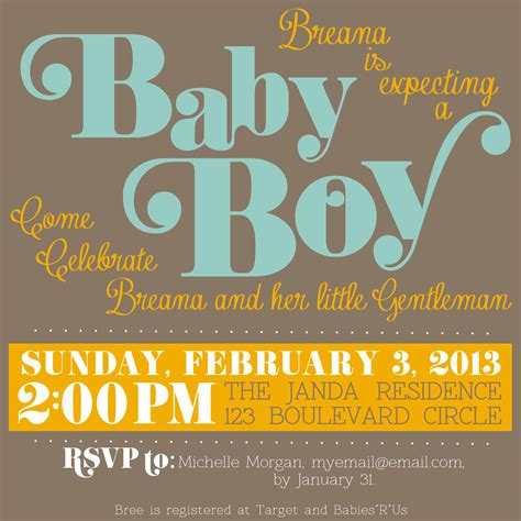 baby shower invitations templates free download