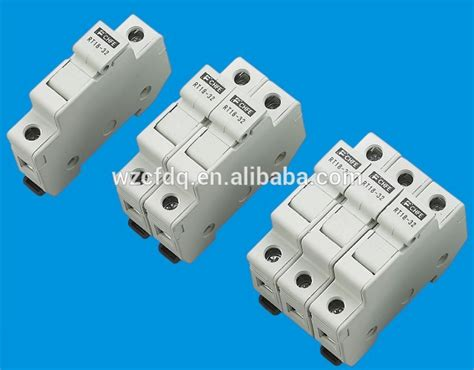 fchfe cylindrical plastic low voltage din rail mounting