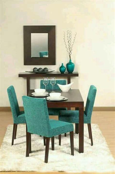 decorar en tonos chocolate  turquesa comedor decoracion