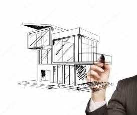 modern house drawing drawing modern house stock photo 169 peshkova 12262437