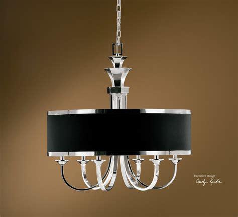 tuxedo chandelier distinctive black shade tuxedo 6 lt single shade chandelier modern chandeliers other metro