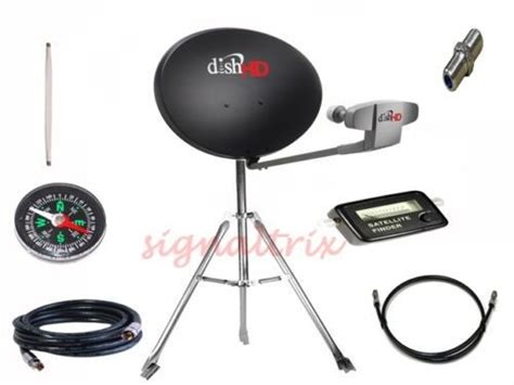 rv portable satellite dish network hd  tailgate cable  tripod kit ebay