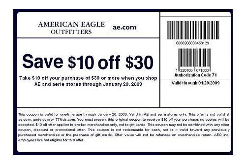 coupon american eagle online