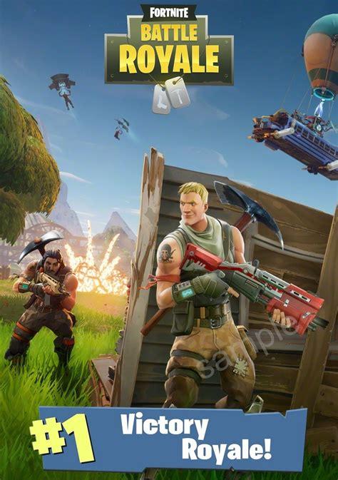 fortnite battle royale poster size   postage