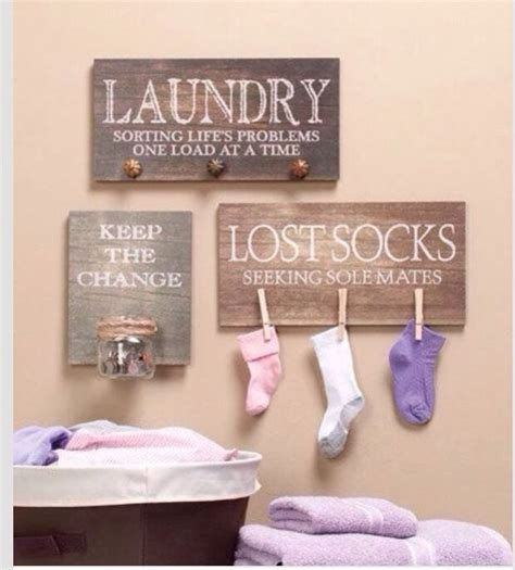 Decorating Laundry Room Walls Diy Laundry Room Decor Laundry Room Pinterest So Lost Socks And Signs