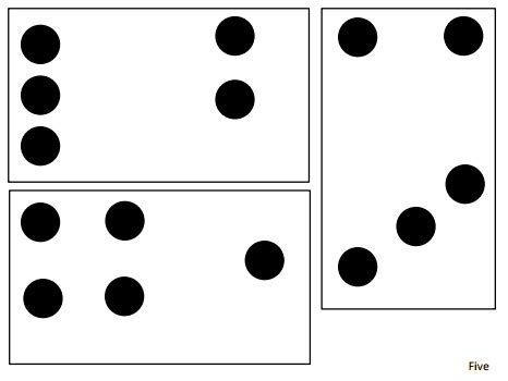 dot pattern flashcards 17 best images about flash card number on pinterest