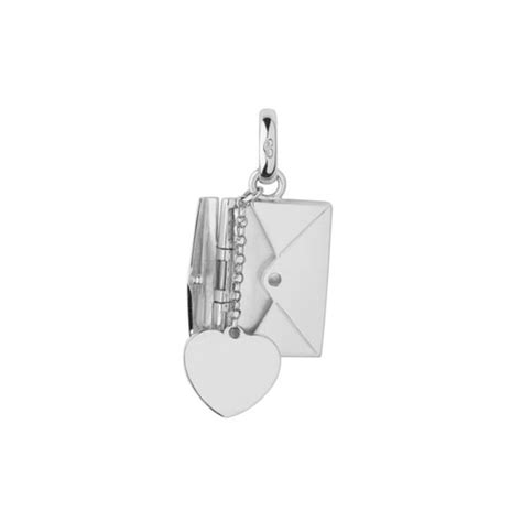 links of silver sealed with a envelope charm