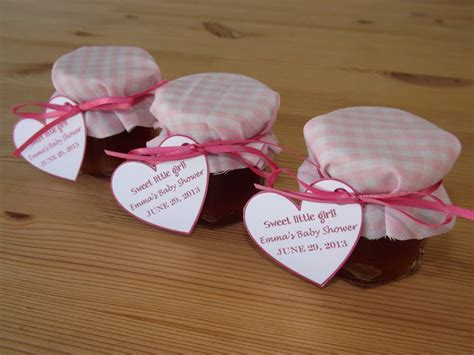 Baby Shower Giveaways - set of 12 baby shower favors jam jar favors christening