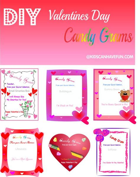 diy valentine s day candy grams valentines day ideas