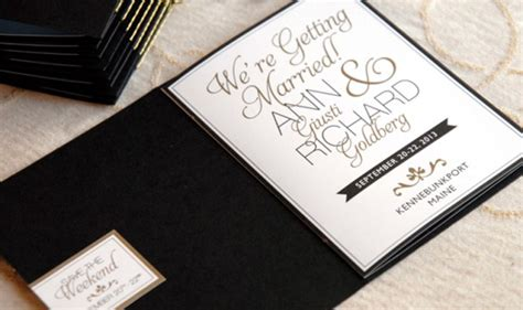 booklet wedding invitation gold black save the date booklet adori designs custom