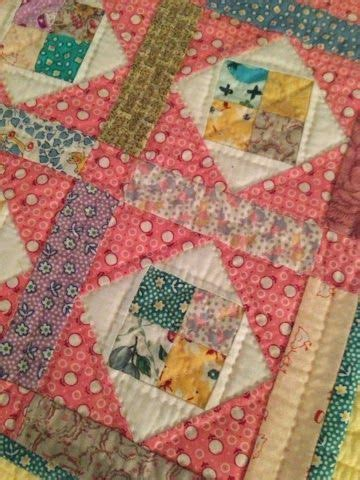 Binding Patchwork Quilt - quilting done binding done the quilt a quilt