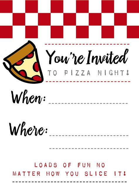 pizza night invites