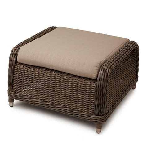 Furniture Outdoor Coffee Table For A Romantic Atmosphere Wicker Ottoman Coffee Table