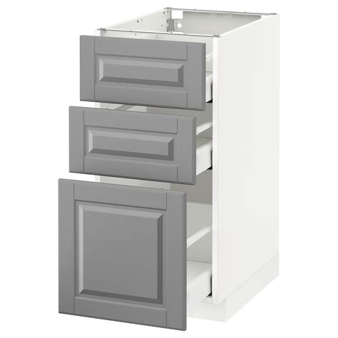 ikea kitchen base cabinets metod maximera base cabinet with 3 drawers white bodbyn