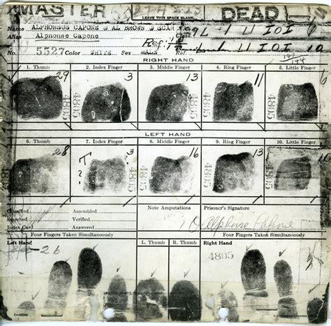 Al Capone Criminal Record Al Capone Fbi