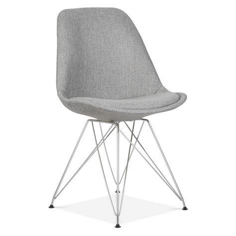 Eiffel Dining Chair Eames Inspired Cool Grey Upholstered Dining Chair Cult Furniture Uk