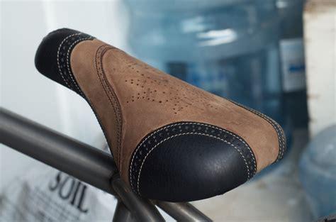 leather bike saddles chris bracamonte s custom leather bmx seat leh cycling leather bar leather bicycle