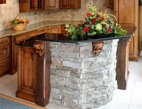 Small Kitchen Island Made Of Stone And Granite Countertop Granite Kitchen Island Ideas