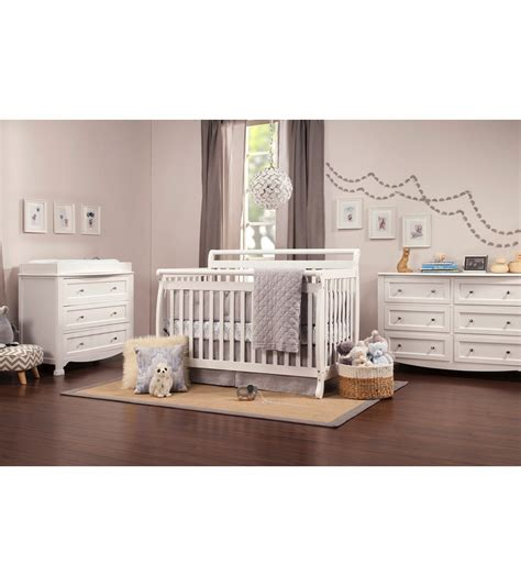 4 in 1 convertible crib white davinci emily 4 in 1 convertible crib in white