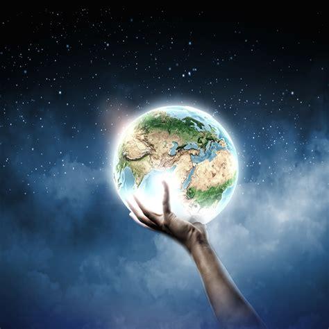 3d earth globe hd wallpapers 另类地球星空图片 素材公社 tooopen
