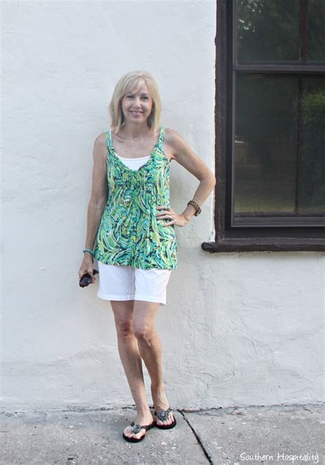 summer fashion for 50 plus on pinterest fashion over 50 casual summer shorts southern hospitality