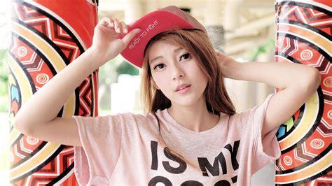 wallpaper girl cap asian girl look cap wallpaper 1920x1080 full hd