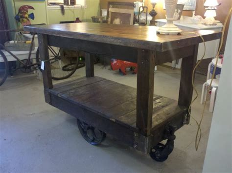 kitchen island accessories custom made kitchen island using a factory cart eclectic