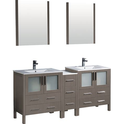 Fresca Fvn62 301230go Uns Torino Gray Oak Double Basin